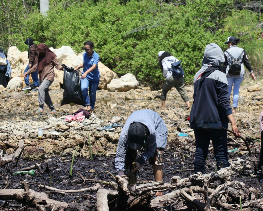 Relawan LindungiHutan Jayapura Melakukan Penanaman Mangrove Di Hari Mangrove Sedunia