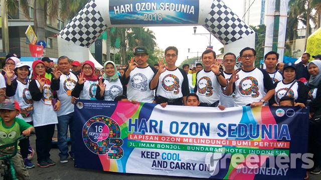 Peringatan Hari Perlindungan Ozon Internasional di Bundaran HI, Jakarta, Indonesia