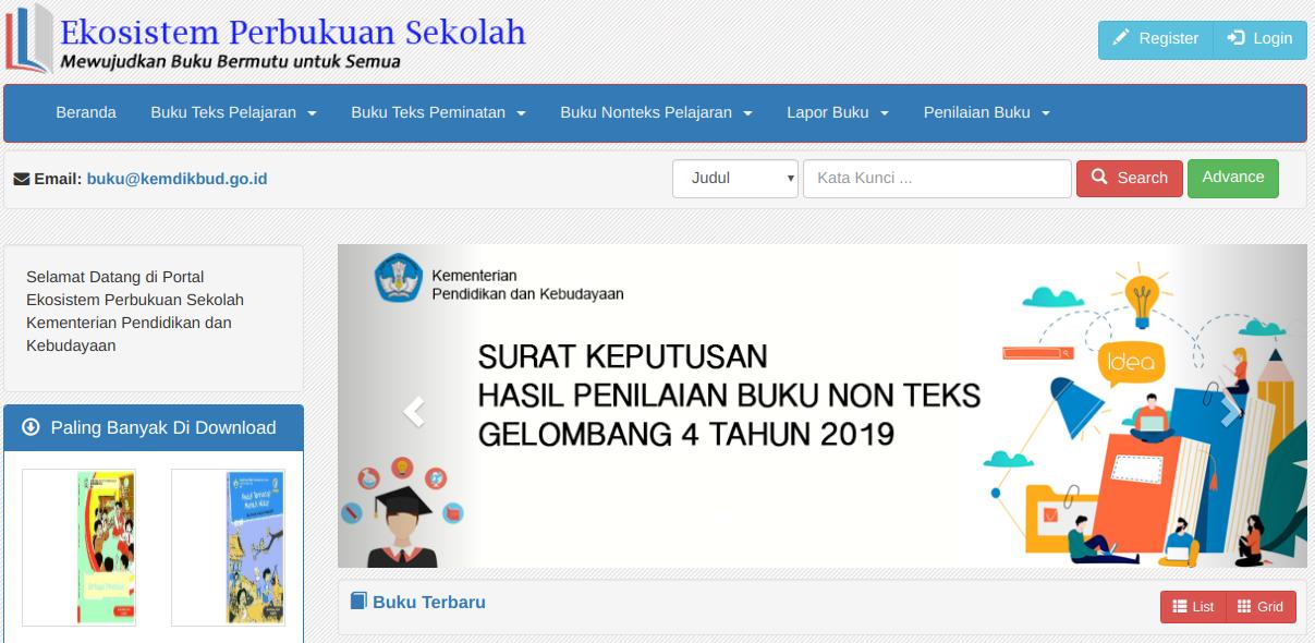 Download Ebook Gratis di Buku Sekolah Elektronik Kemdikbud