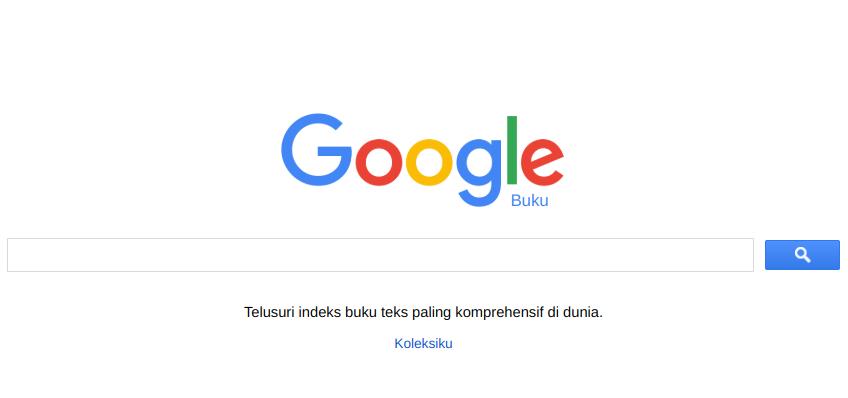 Antarmuka Google Books Bahasa Indonesia