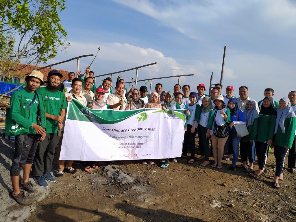 Penanaman Bersama Bintraco Grup di Bedono, Demak